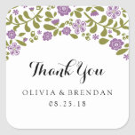 Wildflower Blossom | Wedding Favor Sticker