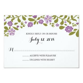 Wildflower Blossoms | Wedding RSVP Invite