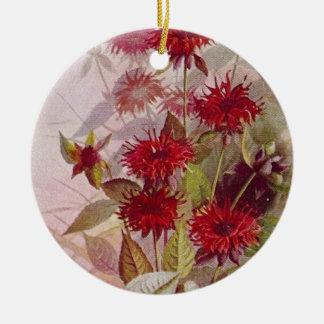 Wildflower Botanical Ceramic Ornament | Two Sides