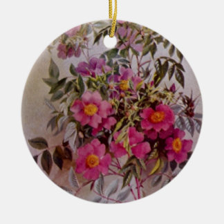 Wildflower Botanical Ceramic Ornament   Two Sides