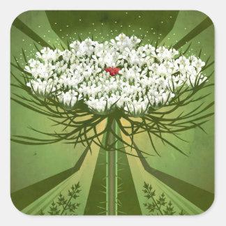 Wildflower Botanicals: Queen Anne's Lace Square Sticker