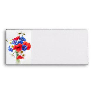 Wildflower bouquet envelope