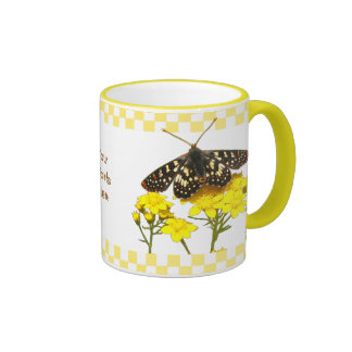 Wildflower Butterfly Mug Customizable