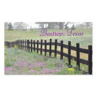 Wildflower by Fence, Bastrop, Texas Sticker