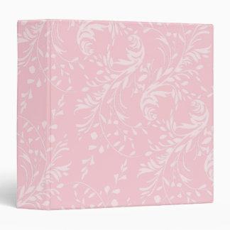 Wildflower damask pattern pink folder binder