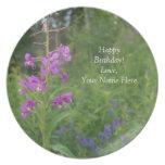 Wildflower del Fireweed de Alaska Plato De Cena