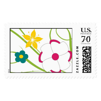 Wildflower drawing postage stamps