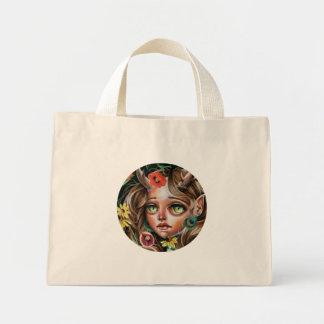 WildFlower Faerie Nymph Pop Surrealism Tote Mini Tote Bag