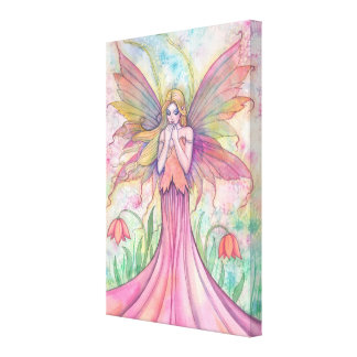 Wildflower Fairy Gallery Wrapped Canvas Print