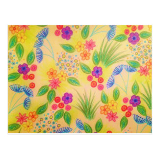 WILDFLOWER FANCY 1 - Cheerful Yellow Lovely Floral Postcard