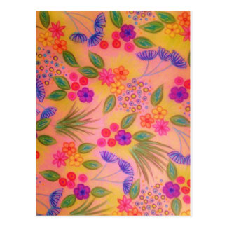 WILDFLOWER FANCY 2 - Cheerful Pink Lovely Floral Postcard
