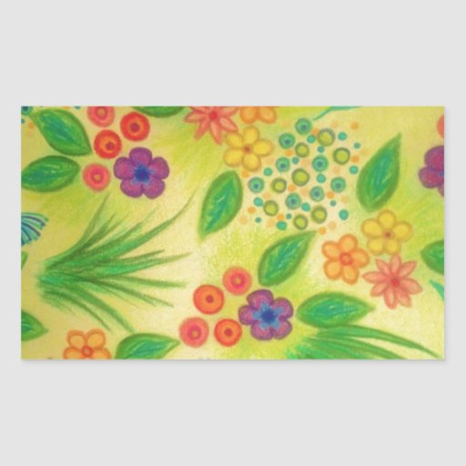 WILDFLOWER FANCY 3 - Cheerful Fresh Green Lovely Stickers