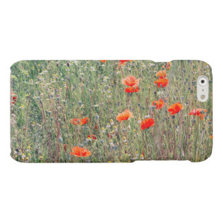 Wildflower Field and Red Poppies Blooming Matte iPhone 6 Case