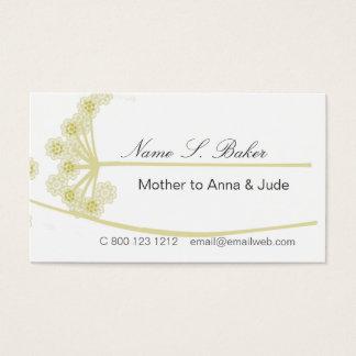 Wildflower  Floral Elegant Modern Professional Business Card