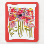 Wildflower Floral Watercolor Mousepad