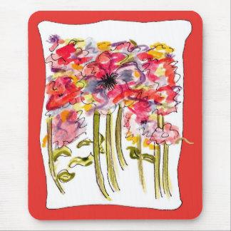 Wildflower Floral Watercolor Mousepad