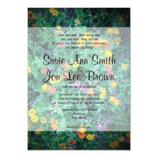 Wildflower Garden Country Wedding Invitations