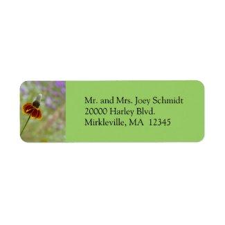 Wildflower Green Return Address Label label