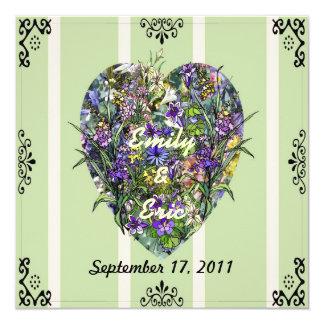 Wildflower Heart Invitations