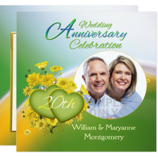 Wildflower Hearts 20th Anniversary Party Photo Invitation