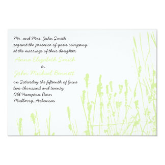 Wildflower - Honeydew Wedding Invitation