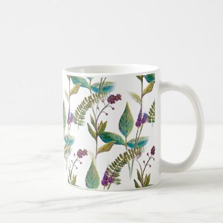 Wildflower Illustration on Coffee/Tea Mug