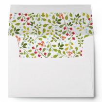 Wildflower Meadow Wedding Matching Envelope