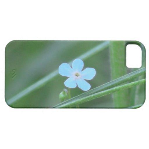 Wildflower negro de la botánica de la flor de la f iPhone 5 Case-Mate coberturas