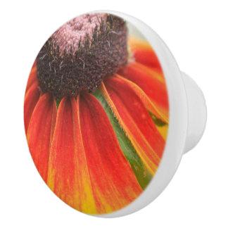 Wildflower Orange Yellow Custom  Kitchen Knob /