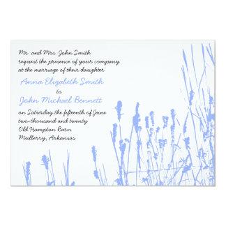 Wildflower - Periwinkle Wedding Invitation