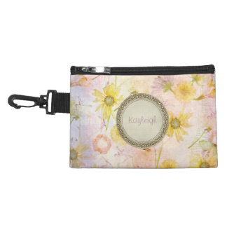 Wildflower Personalized Accessories Bag