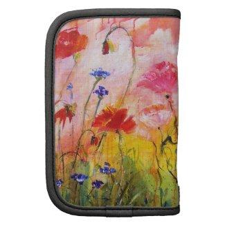 Wildflower Pink Poppies Artsy Customizable Folio rickshawfolio