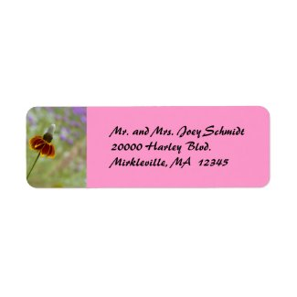 Wildflower Pink Return Address Label label
