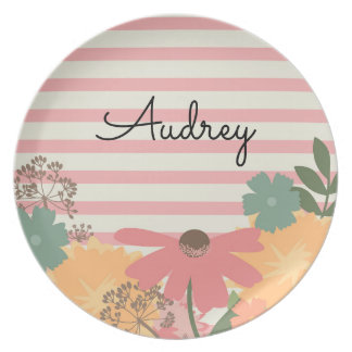 Wildflower Plate - Personalized with Name