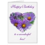 Wildflower púrpura de los asteres de la caída del  tarjeta de felicitación
