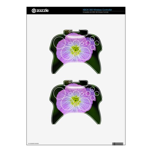 Wildflower púrpura mando xbox 360 calcomanía