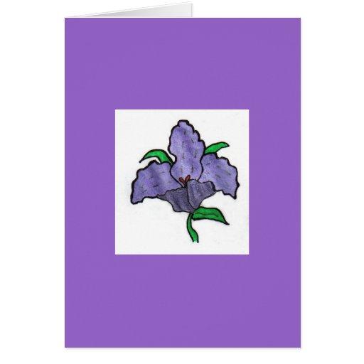 Wildflower púrpura tarjeta pequeña
