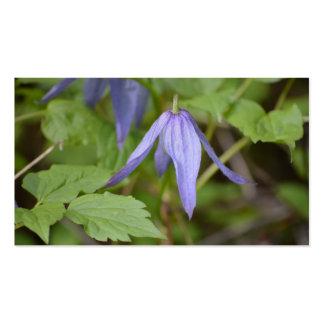 Wildflower púrpura tarjetas de visita