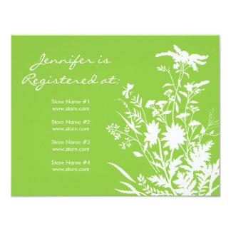"Wildflower Registry Card - 4.25"" x 5.5"""