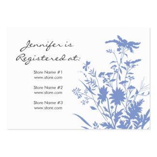 Wildflower Registry Card Large Business Cards (Pack Of 100)