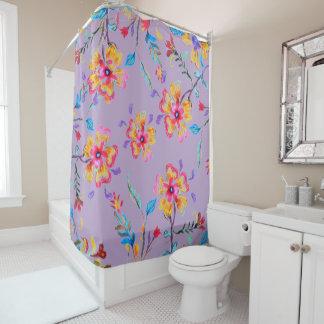 Wildflower Riot Mauve Shower Curtain