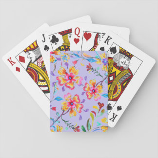 Wildflower Riot Playing Cards