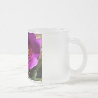 Wildflower rosado taza de cristal