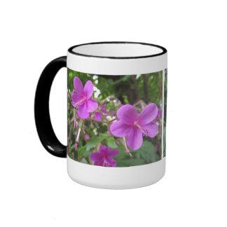 Wildflower rosado taza de dos colores