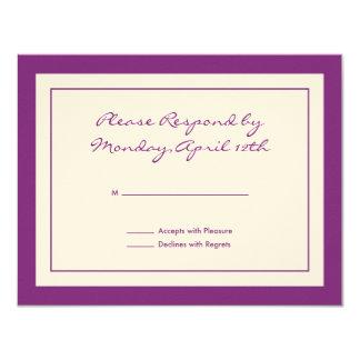 Wildflower RSVP Card Announcements