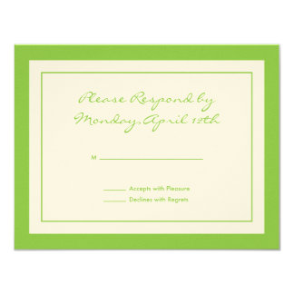 Wildflower RSVP Card Personalized Invite