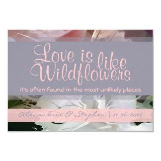 """Wildflower RSVP Invitación 3.5"""" X 5"""""""