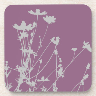Wildflower Silhouette Coasters