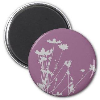 Wildflower Silhouette 2 Inch Round Magnet
