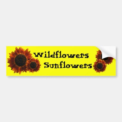 Wildflower Sunflowers Car Bumper Sticker